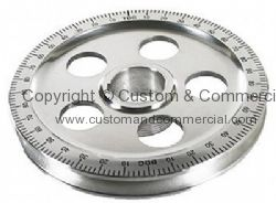 Aluminium crank pulley with holes and Black markings 1200c-1600cc