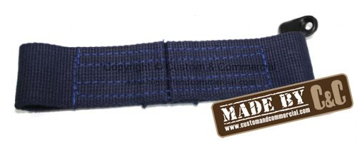 German quality long check strap & bracket blue Bus 55-60