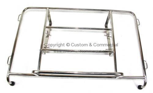Chrome rear luggage rack Ghia 56-74