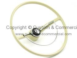 Flat 4 OEM Style steering wheel in Ivory inc horn button 64-71