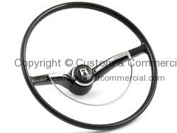 Flat 4  OEM Style steering wheel in Black inc horn button 64-71