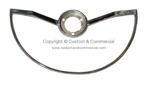 113951531F Chrome horn ring for OEM style steering wheel
