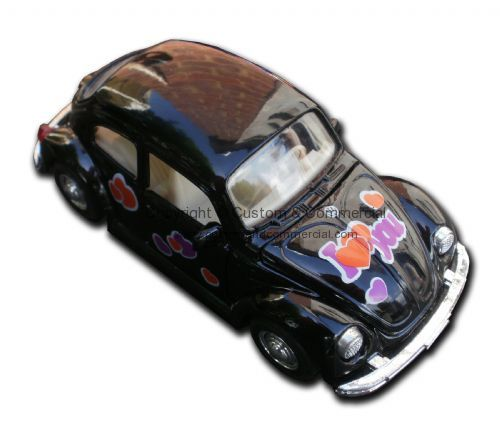 Beetle metal toy car Black