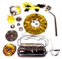 Empi Deluxe engine dress up kit Yellow & Chrome Engine Parts / Custom Engine Parts / Engine Dress Up Parts E00968