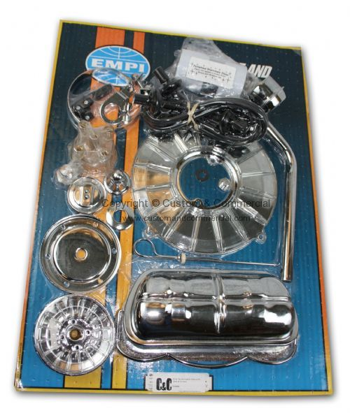 Vw 1600 Dress Up Kit: Empi Deluxe Engine Dress Up Kit Clear & Chrome Engine
