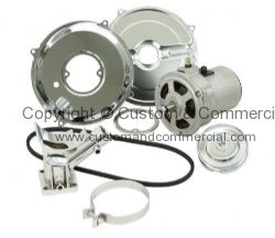 Empi alternator conversion kit 55Amp Inc belt & pulley with chrome parts