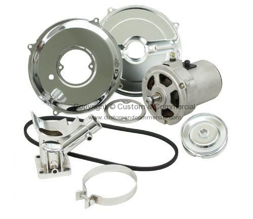 Empi alternator conversion kit 75Amp Inc belt & pulley with chrome parts