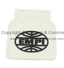 Empi mdflaps White with Black Empi logo for Beetle