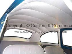 Ivory perforated viny headliner Beetle 68-77