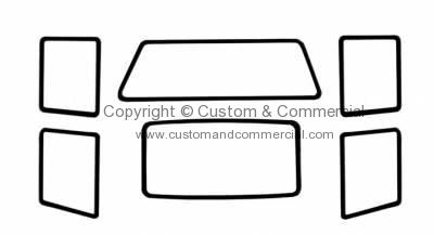 Cal look window seal kit with 2 pop outs for square back Type 3 61-63
