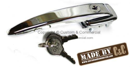 German quality chrome door handle locking with 2 keys Bus