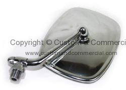 Chrome cab door mirror right 68-79