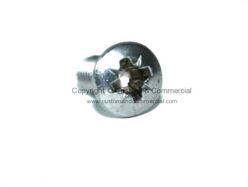 Stainless steel cross head domed screws