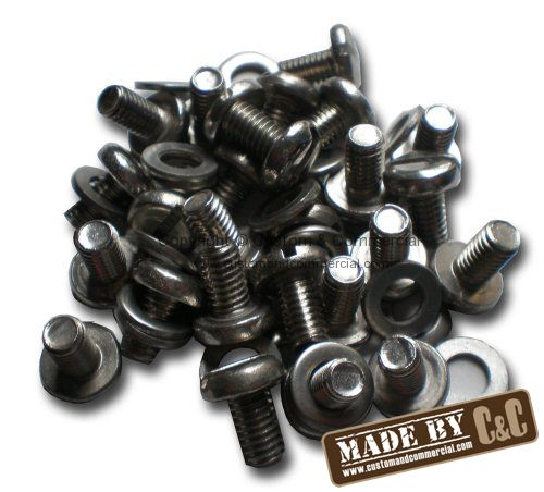 German quality stainless steel tinware screws & washers set of 100