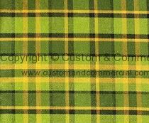 Westfalia plaid pattern upholstery material green-yellow width 1.60m sold per metre
