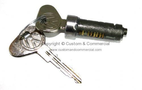 German quality early bay slide door lock barrel and keys for Door handle in german