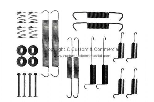 701698545 Rear brake shoe fitting kit T4 90-12/95 701698545