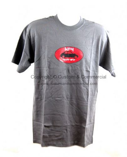 Badfish Grey Red Vintage beetle T Shirt. Size Large