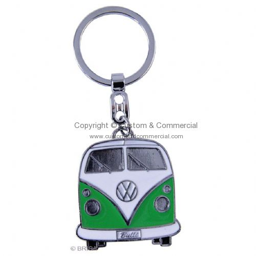 VW T1 Front bus key chains Green