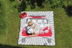 VW T1 Picnic blanket, 2 x 1.50 m, in 2 designs, incl. carry case, RED VW Gifts / VW Camping & Dinning / VW Picnic Blankets VW0062 OEM: BUPB02