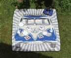 VW T1 Picnic blanket, 2 x 1.50 m, in 2 designs, incl. carry case, BLUE VW Gifts / VW Camping & Dinning / VW Picnic Blankets VW0063