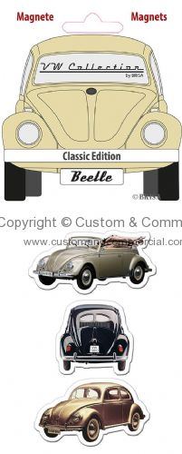 VW Beetle Silhouette Magnet-Set of 3 CLASSIC EDITION