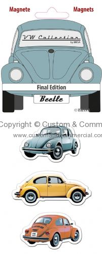 VW Beetle Silhouette Magnet-Set of 3 FINAL EDITION
