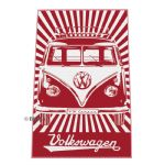 Beach Towel 160cm x 90cm with Splitscreen Califonia 1 RED VW Gifts / VW Gifts & Storage / Beach Towels VW0222 OEM: BUBT01